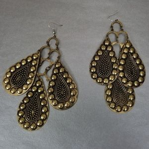 Studs drop bold large earrings lightweighted
